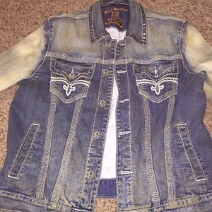 Rock revival jean jacket